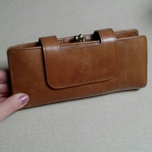 Hobo Nancy leather wristlet clutch